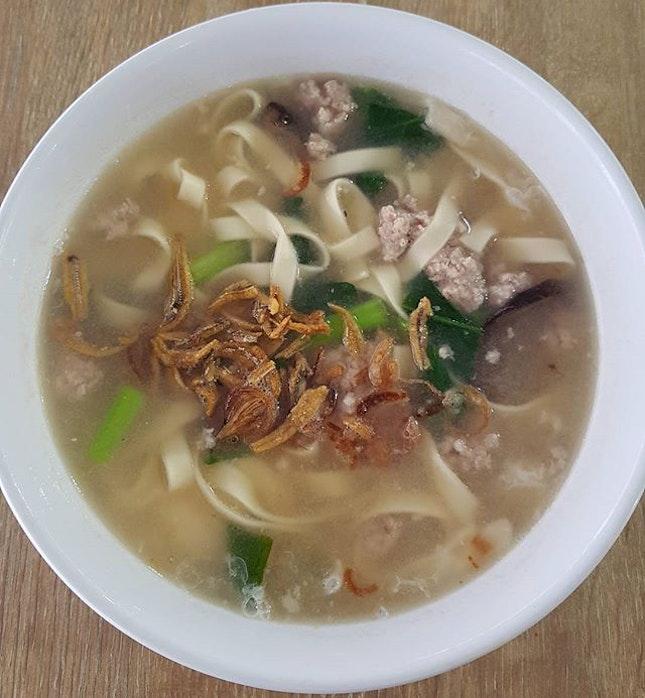 Ban mian soup ($3.50) - rainy day comfort food!