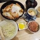 Chicken katsu don set!