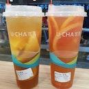 Fruit teas ($4.80 each) 😋 .