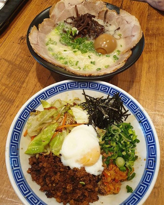 Special tonkotsu ramen ($14.80+) and Mazesoba ($12.80+) 😋 .