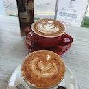 Cappuccino & Chai latte ($6 each) ☕😍😋👍🏼 .