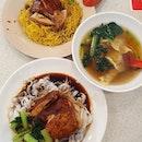 Soya chicken noodles/ hor fun ($4.50 each) & Dumplings soup (6 pcs: $3)!