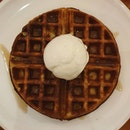 Waffle + white rabbit ice cream, tastes better than it looks ($9.50+)!