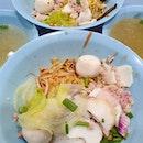 Traditional Teochew Handmade Fishball & Mushroom Minced Meat Noodle (Amoy Street Food Centre)