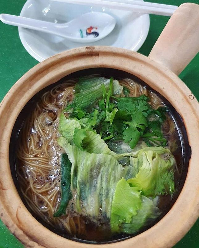Claypot herbal sliced pork mee sua ($5)!