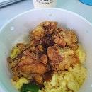 Soy garlic chicken rice ($5.90) & Honey oolong milk tea ($4)!