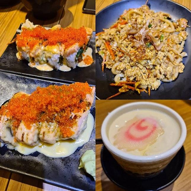 Shiok maki gen 1 & 2, fried yaki udon, chawanmushi x2 ($54.14)!
