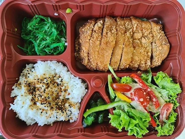Pork cutlet bento set ($12.90)!
