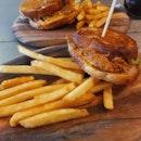 Pulled pork + cheese melt + crispy fries.