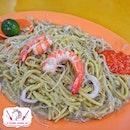 Yi Ji Fried Hokkien Prawn Noodles.