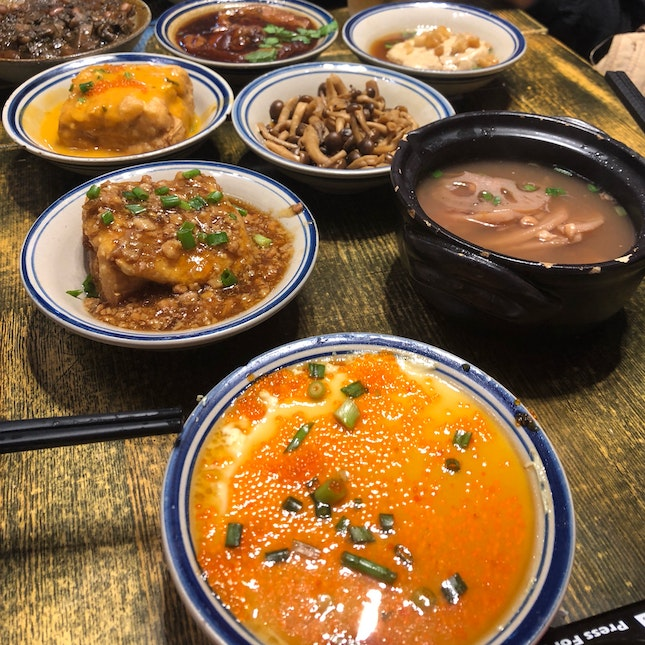 Assorted Chinese Dishes At House Of Pok
