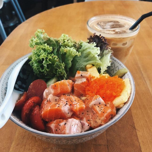 Salmon Sashimi Bowl (RM23)