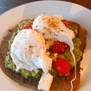 Avocado Toast With Feta & Poached Eggs