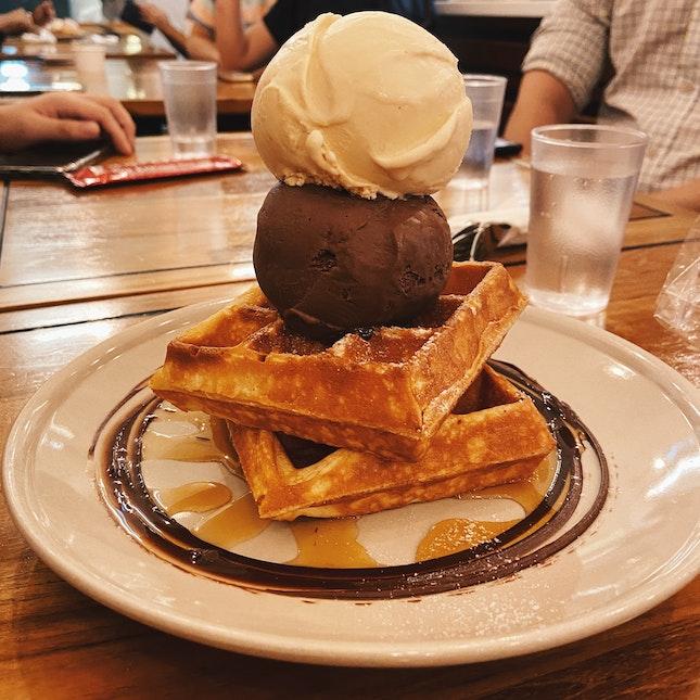 Waffles & Ice Cream