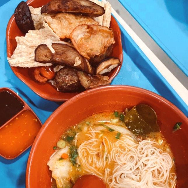 Yong Tau Foo With Tomyam Soup