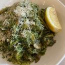 Mushroom & Basil Pesto Pasta