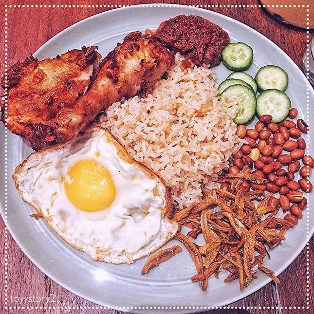 [The Coconut Club] Nasi Lemak Ayam Goreng Berempah, S$12.80.
