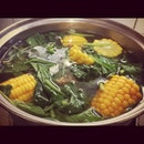 #soup #spinach #corn #hot #instafood #instagram #instaphoto #instadaily #nyummy #delicious #homemade