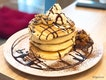 Grilled Banana With Chocolate Pancakes