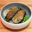 [Miso Ginger Eggplant Bowl-$14.80]  I usually don't really fancy eggplants as i felt they tasted a little weird but i was truly blown away by how good this eggplant tasted??