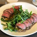 [Open-faced steak sandwich-$24]  Its been long since I've had a good steak sandwich and I absolutely loved @ange.cafe 's rendition, with the tender slices of beef carpaccio which were lightly seared and had a pleasant flavour thanks to the herb-crusted edges.