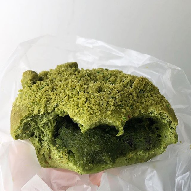 [Matcha Dome-$1.90]  If you love matcha but haven't tried this latest matcha bread from Sun Moulin, you are missing out!!