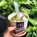 NEW Matcha Mcdip Mcflurry ($3.10) just launched @mcdsg .