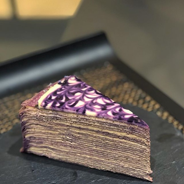 [Lavender Earl Grey Mille Crepe-$9]  Couldn't really taste the earl grey, but there was the distinct floral lavender fragrance that wasn't too artificial and perfume-y.