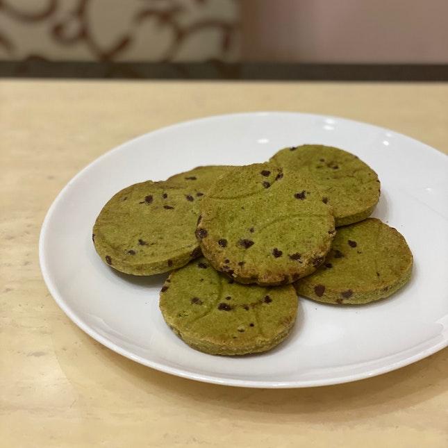 Matcha Choc Chip Cookies ($3/2pcs)