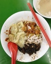 Mushroom minced meat mee kia dry (w/ chilli, w/o vinegar) - $5 I'm a super fan of hong lim food centre's bcm stall (best in SG imo) of the same name but different brother, and was so so SO glad to have finally made my way down to bukit gombak to have this!!