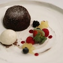 The timeless and superbly executed molten lava chocolate cake at the 1 Michelin ⭐ @garibaldisingapore .