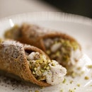 Cannoli with pistachio and ricotta filling at @in_piazza_italian_restaurant 🇸🇬 .