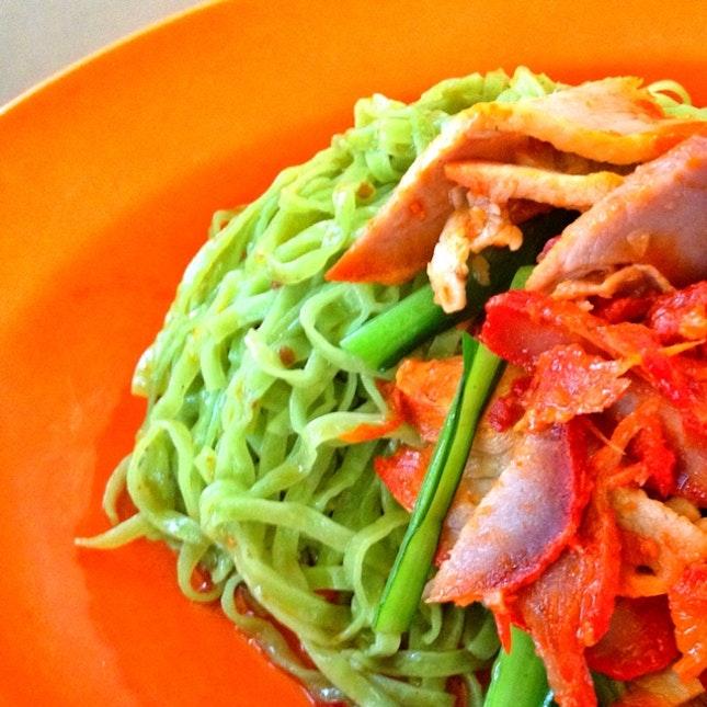 Delicious Green Wanton Mee