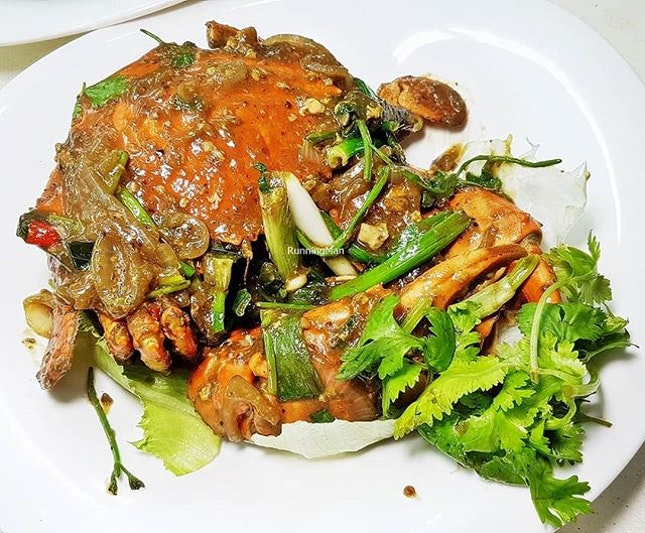 White Pepper Crab (SGD $40 per crab, fixed price) @ T.K.