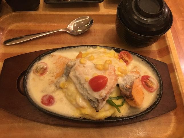 Salmon Cream Omurice