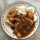 Grilled Chicken Chop with Mushroom Sauce