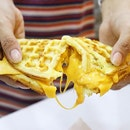 Another nice dish choices from @scorch_eatery is: Nacho Cheese and Cheddar Cheese Waffle!