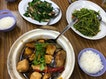 Yang Dou Foo and Stir Fry Kai Lan With Pork Belly