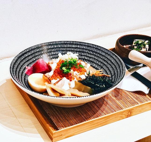 Aburi Salmon Chazuke [$18]