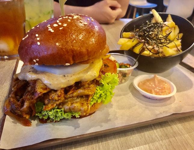 Mala Xiang Guo Burger ($19)