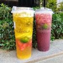 👉Signature Fruit Tea && Have a Grape day👈