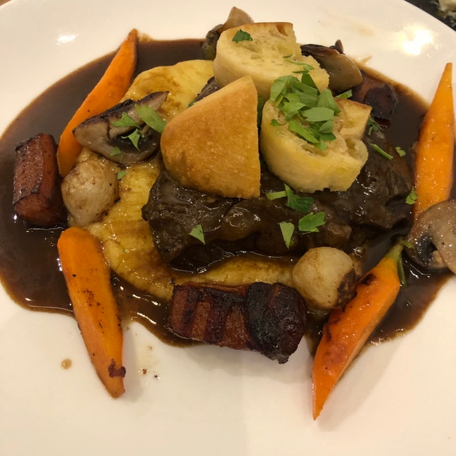 Beef Cheek Bourguignon ($24)