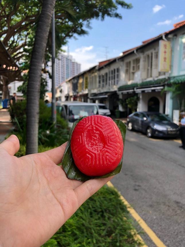 Sweet Bean Ang Ku Kueh ($0.90)