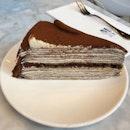Tiramisu Mille Crepe Cake ($10)
