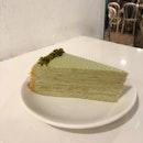 Pistachio Mille Crepe Cake