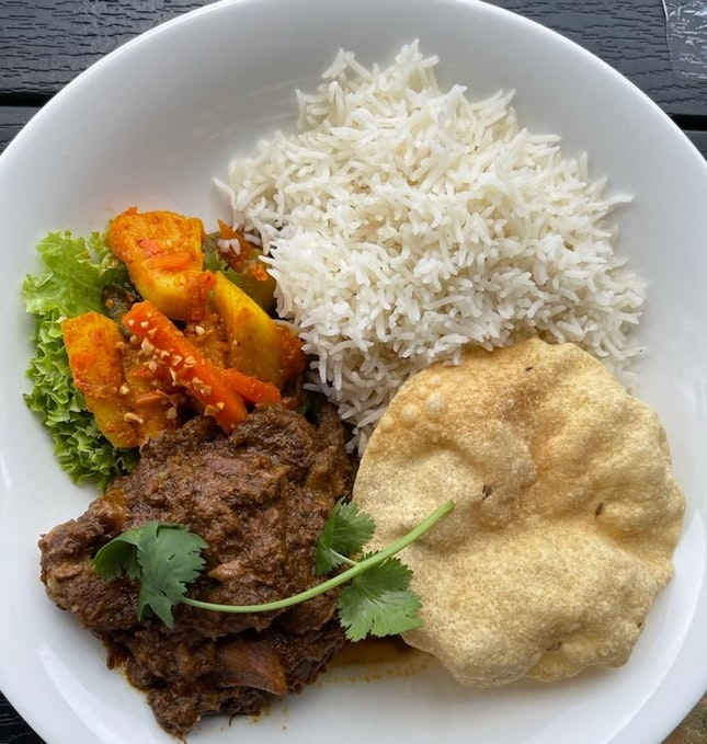 Beef Rendang with Basmati Rice - $25++