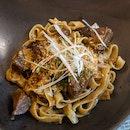 Beef Check Fettuccine - $26++