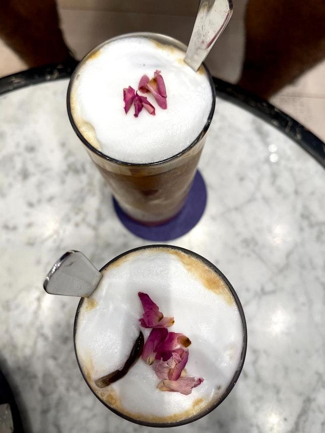 Rose Iced Latte $10 / 5*