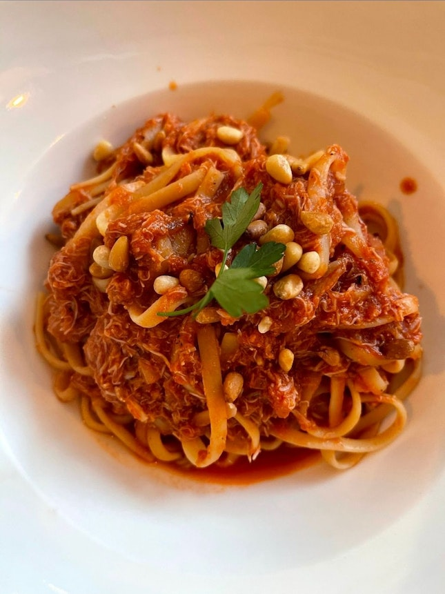 Chilly Crab Pasta $27 / 3*