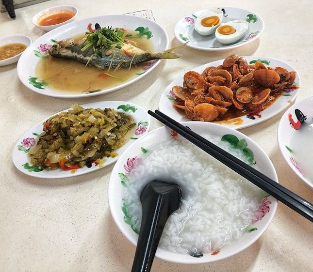 When u experience excruciating gastric pain😖 for the first time since midnight, it's time to turn to teochew porridge for comfort😌 #help